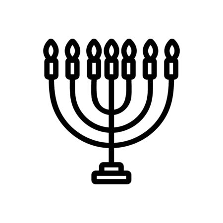 Candle icon vector. Thin line sign. Isolated contour symbol illustration