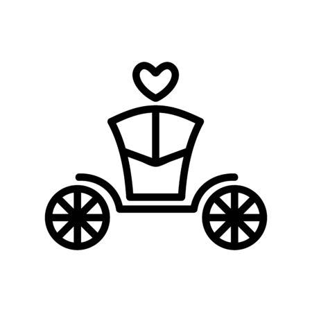 Coach brougham icon vector. Thin line sign. Isolated contour symbol illustration Standard-Bild - 140086277