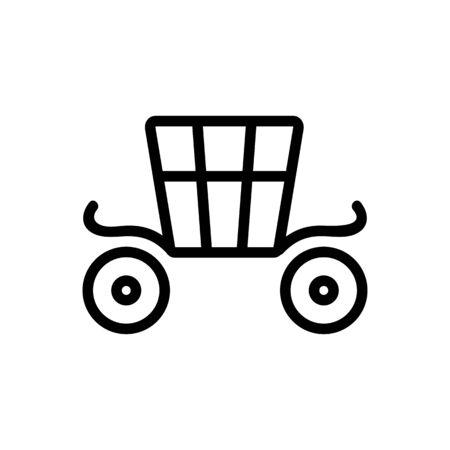 Coach brougham icon vector. Thin line sign. Isolated contour symbol illustration Standard-Bild - 140086378