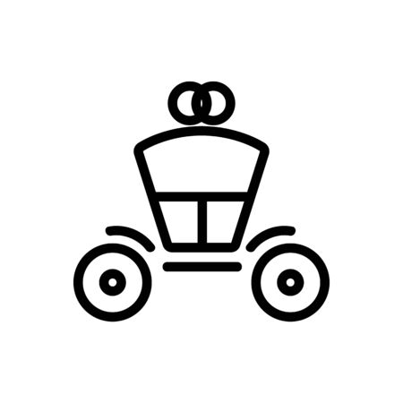 Coach brougham icon vector. Thin line sign. Isolated contour symbol illustration Illustration