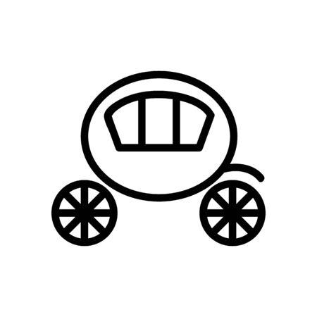 Coach brougham icon vector. Thin line sign. Isolated contour symbol illustration Standard-Bild - 140086381