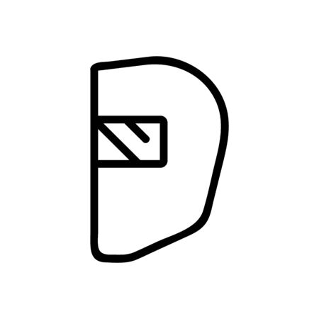 Blacksmith mask icon vector. Thin line sign. Isolated contour symbol illustration