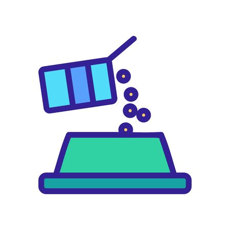 Pet bowl icon vector. Thin line sign. Isolated contour symbol illustration Stock Illustratie