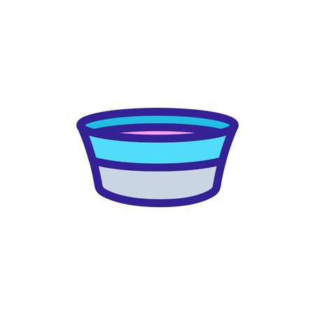 Pet bowl icon vector. Thin line sign. Isolated contour symbol illustration Illustration