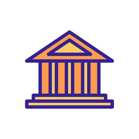 Greece building icon vector. Thin line sign. Isolated contour symbol illustration