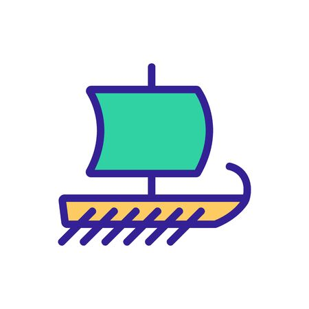 ship icon vector. Thin line sign. Isolated contour symbol illustration