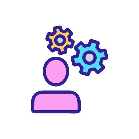Set up the programming icon vector. Thin line sign. Isolated contour symbol illustration