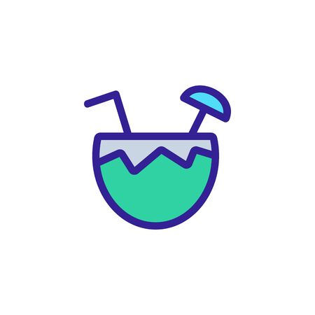 Coconut icon vector. Thin line sign. Isolated contour symbol illustration 일러스트