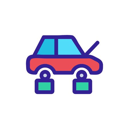 Hacking car icon vector. Thin line sign. Isolated contour symbol illustration