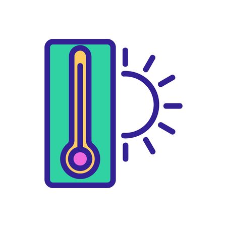 Temperature icon vector. Thin line sign. Isolated contour symbol illustration