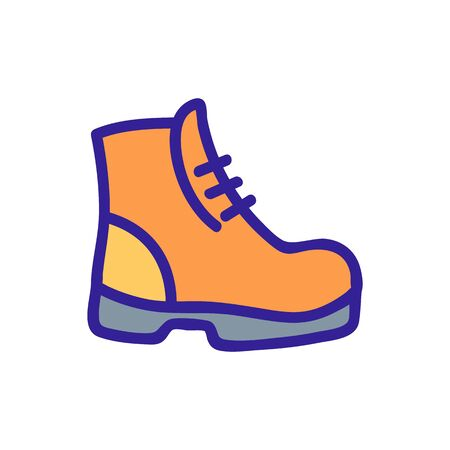 Shoes tourist icon vector. Thin line sign. Isolated contour symbol illustration