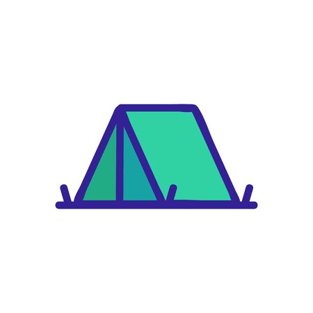 tent icon vector. Thin line sign. Isolated contour symbol illustration