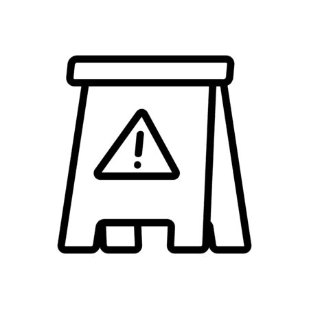 Slippery floor icon vector. Thin line sign. Isolated contour symbol illustration Ilustracja