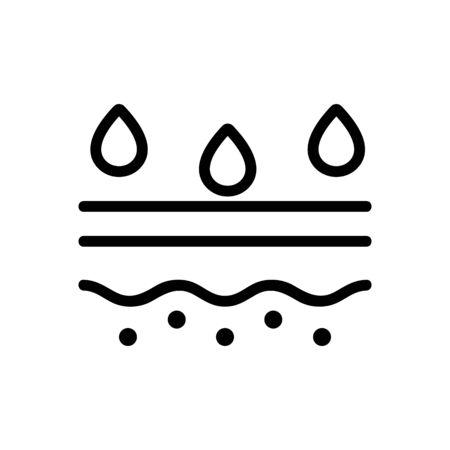 Skin care icon vector. Thin line sign. Isolated contour symbol illustration Illusztráció
