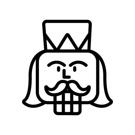 nutcracker Icon vector. Thin line sign. Isolated contour symbol illustration