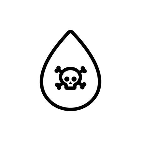 hospital blood icon vector. Thin line sign. Isolated contour symbol illustration Ilustracja