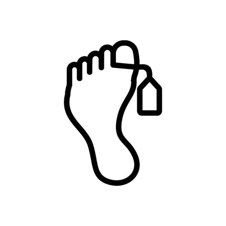foot death icon vector. Thin line sign. Isolated contour symbol illustration