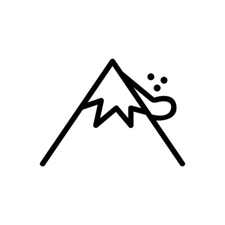 landslide Icon vector. Thin line sign. Isolated contour symbol illustration