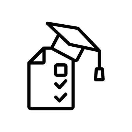 exam testing icon vector. Thin line sign. Isolated contour symbol illustration