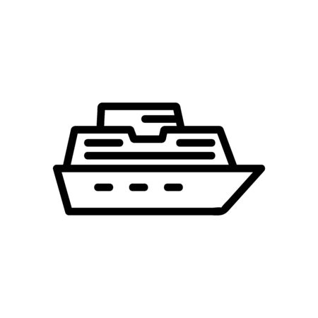 yacht icon vector. Thin line sign. Isolated contour symbol illustration Ilustracja