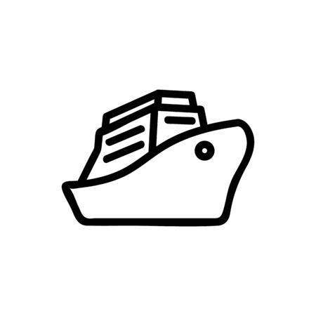 yacht icon vector. Thin line sign. Isolated contour symbol illustration Illustration