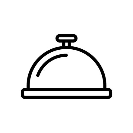 Call the staff icon vector. Thin line sign. Isolated contour symbol illustration