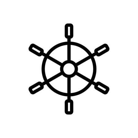 steering wheel sea vector icon. Thin line sign. Isolated contour symbol illustration