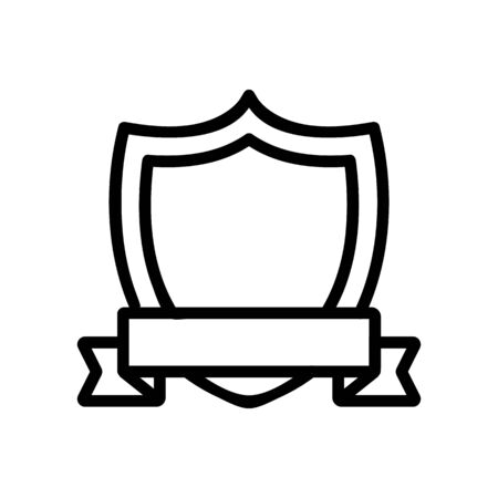 The old coat of arms is an icon vector. Thin line sign. Isolated contour symbol illustration