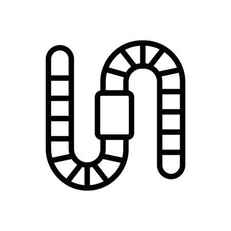 worm icon vector. Thin line sign. Isolated contour symbol illustration Ilustracja