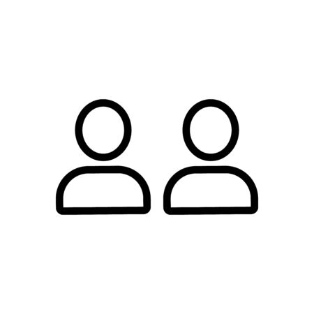 advice friend icon vector. Thin line sign. Isolated contour symbol illustration