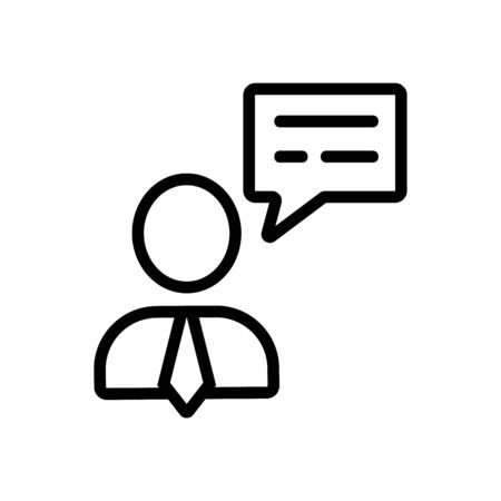 Advice dispatcher a fellow vector icon. Thin line sign. Isolated contour symbol illustration