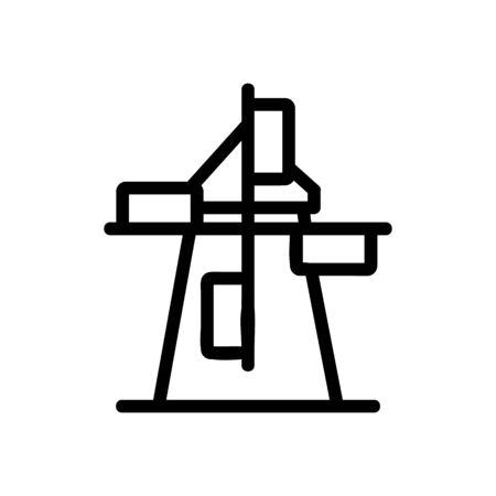 windmill icon vector. Thin line sign. Isolated contour symbol illustration