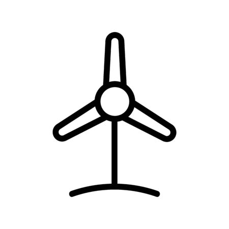 Wind generator mill icon vector. Thin line sign. Isolated contour symbol illustration
