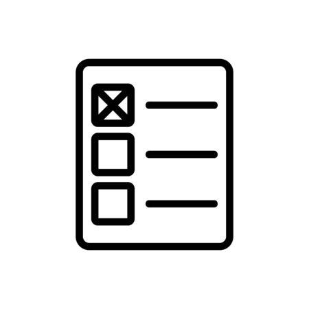 Checkbox icon vector. Thin line sign. Isolated contour symbol illustration