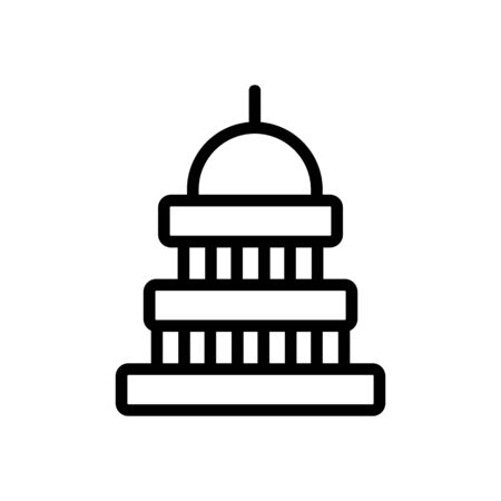 Capitol icon vector. Thin line sign. Isolated contour symbol illustration