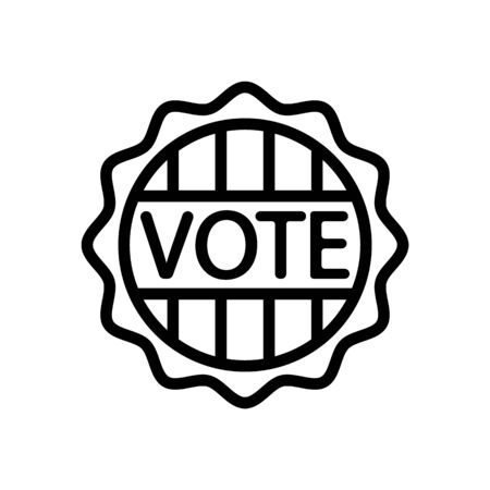 Voting icon vector. Thin line sign. Isolated contour symbol illustration