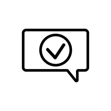 Notification of the vector icon. Thin line sign. Isolated contour symbol illustration Ilustração