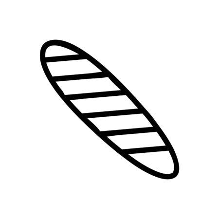 surfboard sea icon vector. Thin line sign. Isolated contour symbol illustration Ilustração