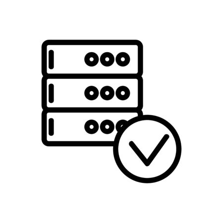 the database is an icon vector. Thin line sign. Isolated contour symbol illustration