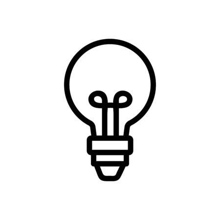Light bulb icon vector. Thin line sign. Isolated contour symbol illustration