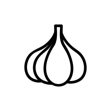 garlic icon vector. Thin line sign. Isolated contour symbol illustration