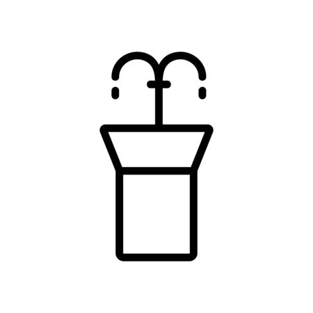 fountain drinking vector icon. Thin line sign. Isolated contour symbol illustration