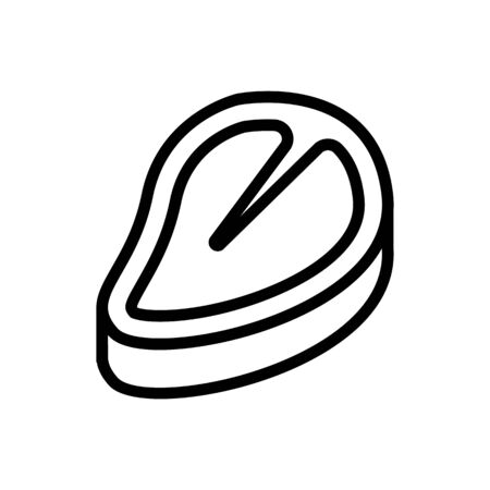 beef icon vector. Thin line sign. Isolated contour symbol illustration