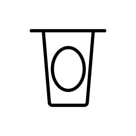 milk icon vector. Thin line sign. Isolated contour symbol illustration