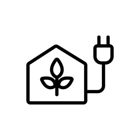 biofuel Icon vector. Thin line sign. Isolated contour symbol illustration Vectores