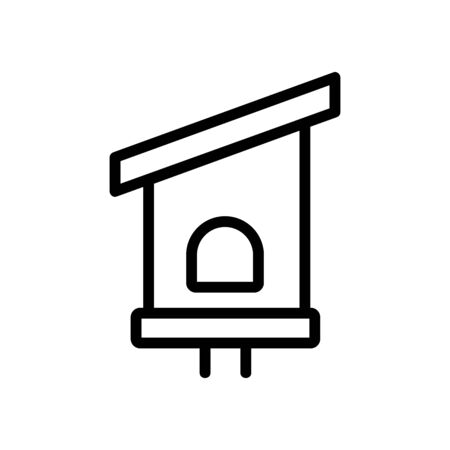 bird house Icon vector. Thin line sign. Isolated contour symbol illustration