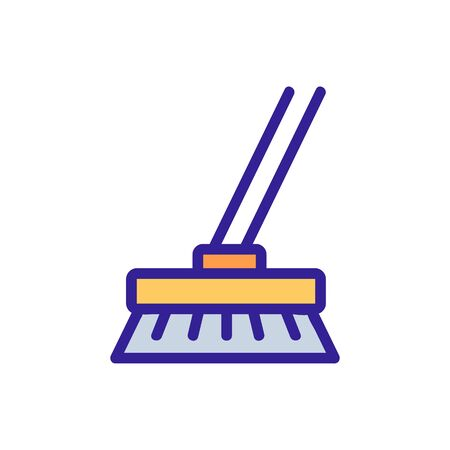 Wet cleaning icon vector. Thin line sign. Isolated contour symbol illustration
