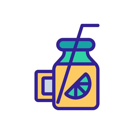 Lime cocktail icon vector. Thin line sign. Isolated contour symbol illustration