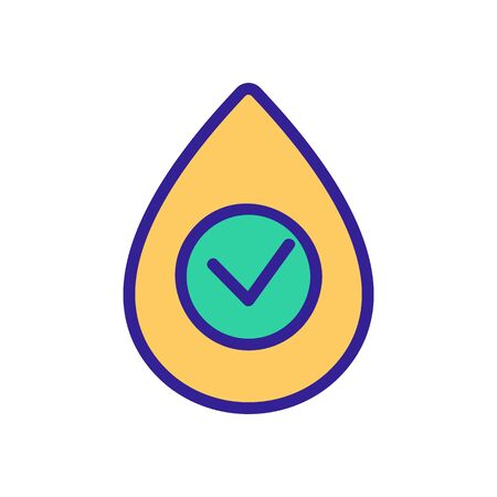 hospital blood icon vector. Thin line sign. Isolated contour symbol illustration Ilustração