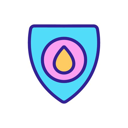hospital blood icon vector. Thin line sign. Isolated contour symbol illustration